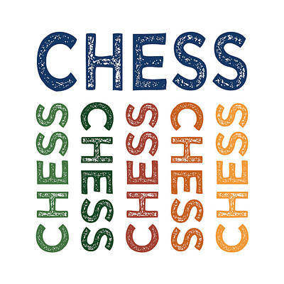 Chess Cute Colorful Poster by Flo Karp