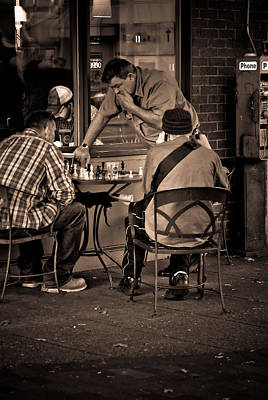 Poster featuring the photograph Chess Game by Erin Kohlenberg