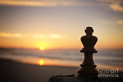 Chess Sunset Poster