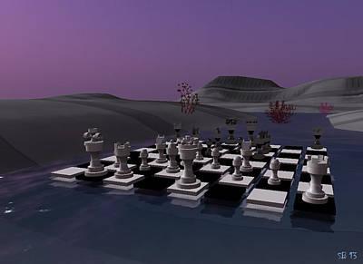 Poster featuring the digital art Chess by Susanne Baumann
