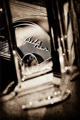 Chevrolet Belair Dash Board Emblem Poster by Jill Reger