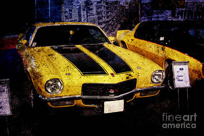 Poster featuring the photograph Chevrolet Camaro by Mohamed Elkhamisy