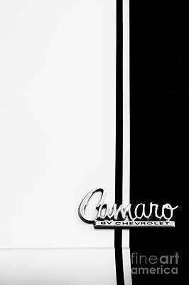 Chevrolet Camaro Monochrome Poster