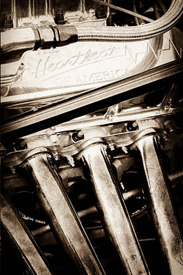 Chevrolet Engine - Heartbeat Of America Poster by Jill Reger