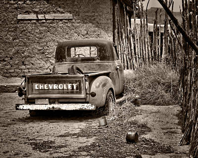 Chevrolet Pickup - Sepia Poster by Nikolyn McDonald