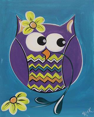 Chevron Owl Poster