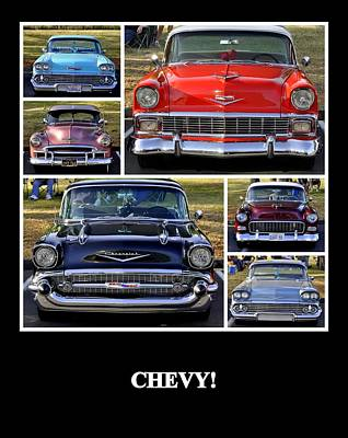 Chevy Poster by AJ  Schibig
