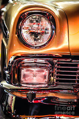 Chevy Bel Air Headlight Poster by Shanna Gillette
