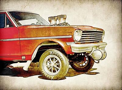 Chevy Gasser Art Poster