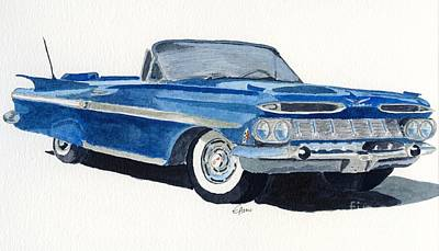 Poster featuring the painting Chevy Impala by Eva Ason