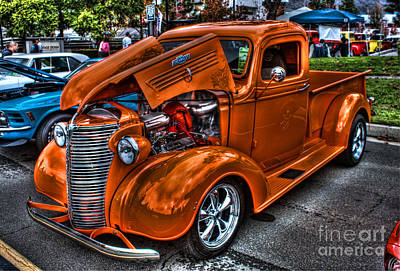 Chevy Pickup Street Rod Poster by Tommy Anderson