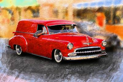 Vintage Cars Poster featuring the photograph Chevy Street Rod by Aaron Berg