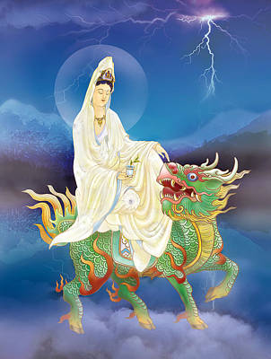 Poster featuring the photograph Chi Lin Kuan Yin by Lanjee Chee