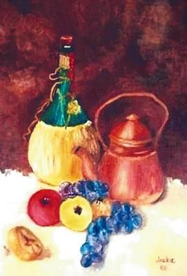 Chianti Wine Bottle  Poster