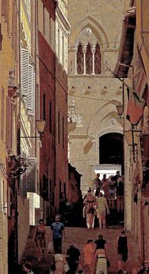 Chiaroscuro Siena  Poster