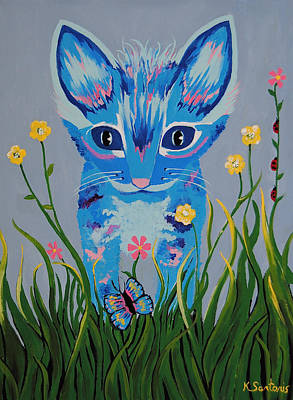 Chibi - Cat Art Poster