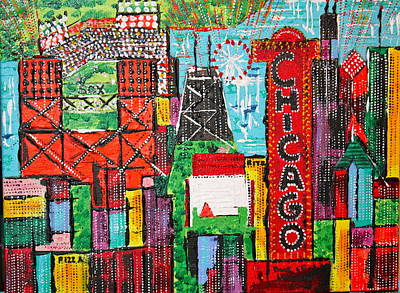 Chicago - City Of Fun - Sold Poster by George Riney