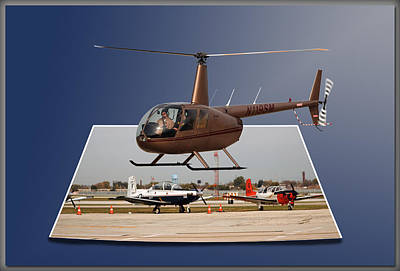 Chicago 08 Helicopter Landing Poster by Thomas Woolworth
