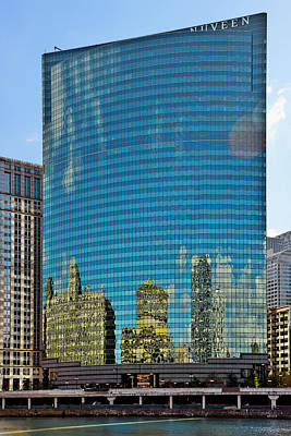 Chicago - 333 West Wacker Drive Poster by Christine Till