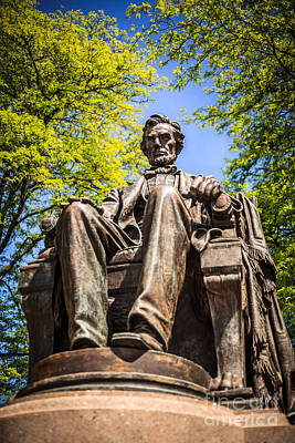 Chicago Abraham Lincoln Sitting Statue Poster by Paul Velgos