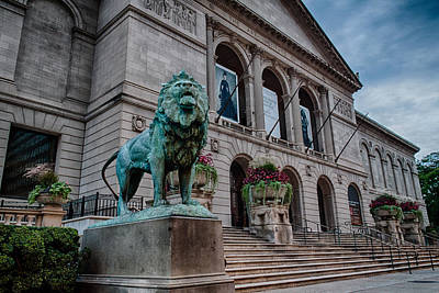 Chicago Art Museum Lion Poster