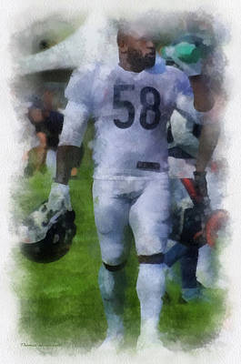 Chicago Bears Lb D J Williams Training Camp 2014 Pa 01 Poster