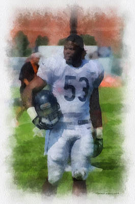 Chicago Bears Lb Jerry Franklin Training Camp 2014 Pa 01 Poster