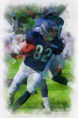 Chicago Bears Wr Chris Williams Training Camp 2014 Pa 01 Poster