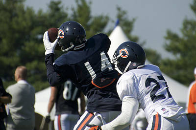 Chicago Bears Wr Eric Weems Training Camp 2014 05 Poster