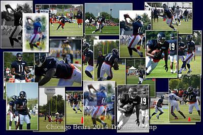 Chicago Bears Wr Josh Bellamy Training Camp 2014 Collage Poster