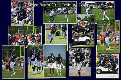 Chicago Bears Wr Marquess Wilson Training Camp 2014 Collage Poster