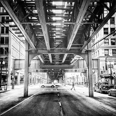#chicago #chicagogram #blackandwhite Poster