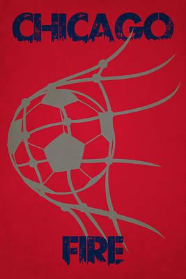 Chicago Fire Goal Poster by Joe Hamilton