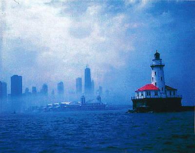 Chicago Fog Poster by Rita Mueller