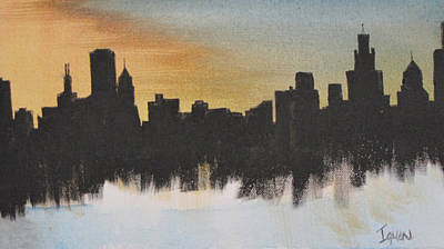 Poster featuring the painting Chicago by Gary Smith
