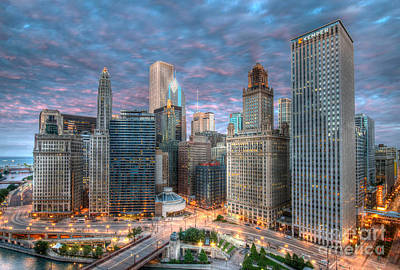 Chicago Hdr Poster by Jeff Lewis