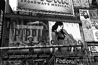 Chicago In New York City Mono Poster by John Rizzuto