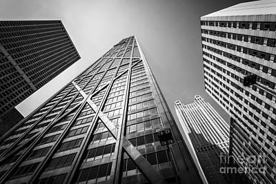 Chicago John Hancock Building In Black And White Poster by Paul Velgos