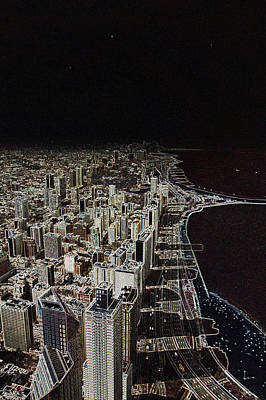Chicago Lakefront Aglow Poster