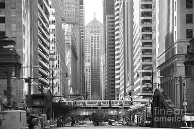 Chicago Lasalle Street Poster by Michael Paskvan