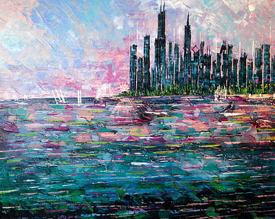 Chicago Morning - Sold Poster by George Riney