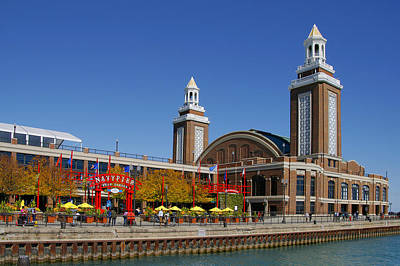 Chicago Navy Pier Headhouse Poster by Christine Till