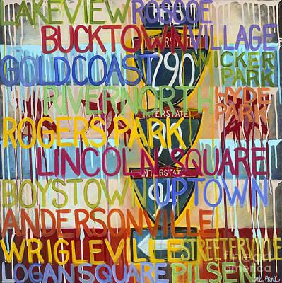 Chicago Neighborhoods II Poster by Carla Bank