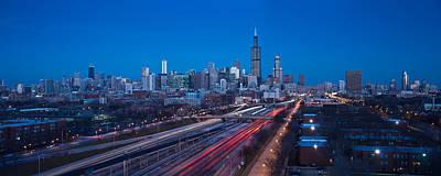 Chicago Panorama Poster by Steve Gadomski