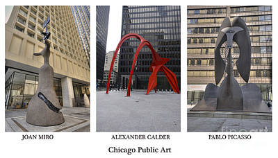 Chicago Public Art Poster by David Bearden