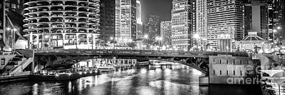 Chicago River Dearborn Street Bridge Panorama Photo Poster by Paul Velgos