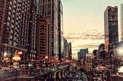 Chicago River November Hdr Poster by Thomas Woolworth