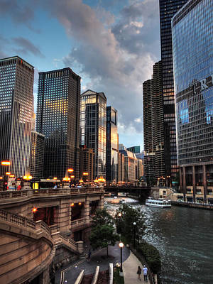 Chicago River - The Mag Mile 003 Poster by Lance Vaughn