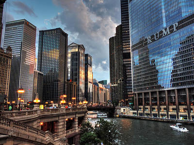 Chicago River - The Mag Mile 004 Poster by Lance Vaughn