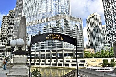 Chicago Riverwalk Poster by Frozen in Time Fine Art Photography